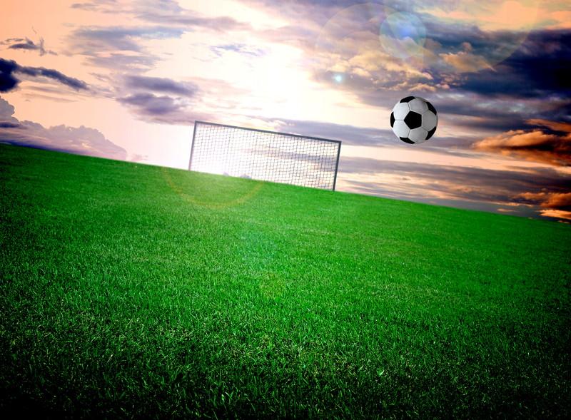 空とゴールとボール